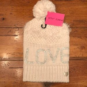 Betsey Johnson Pom Pom Hat